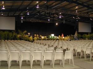 Event setup at Baw Baw Pavilion