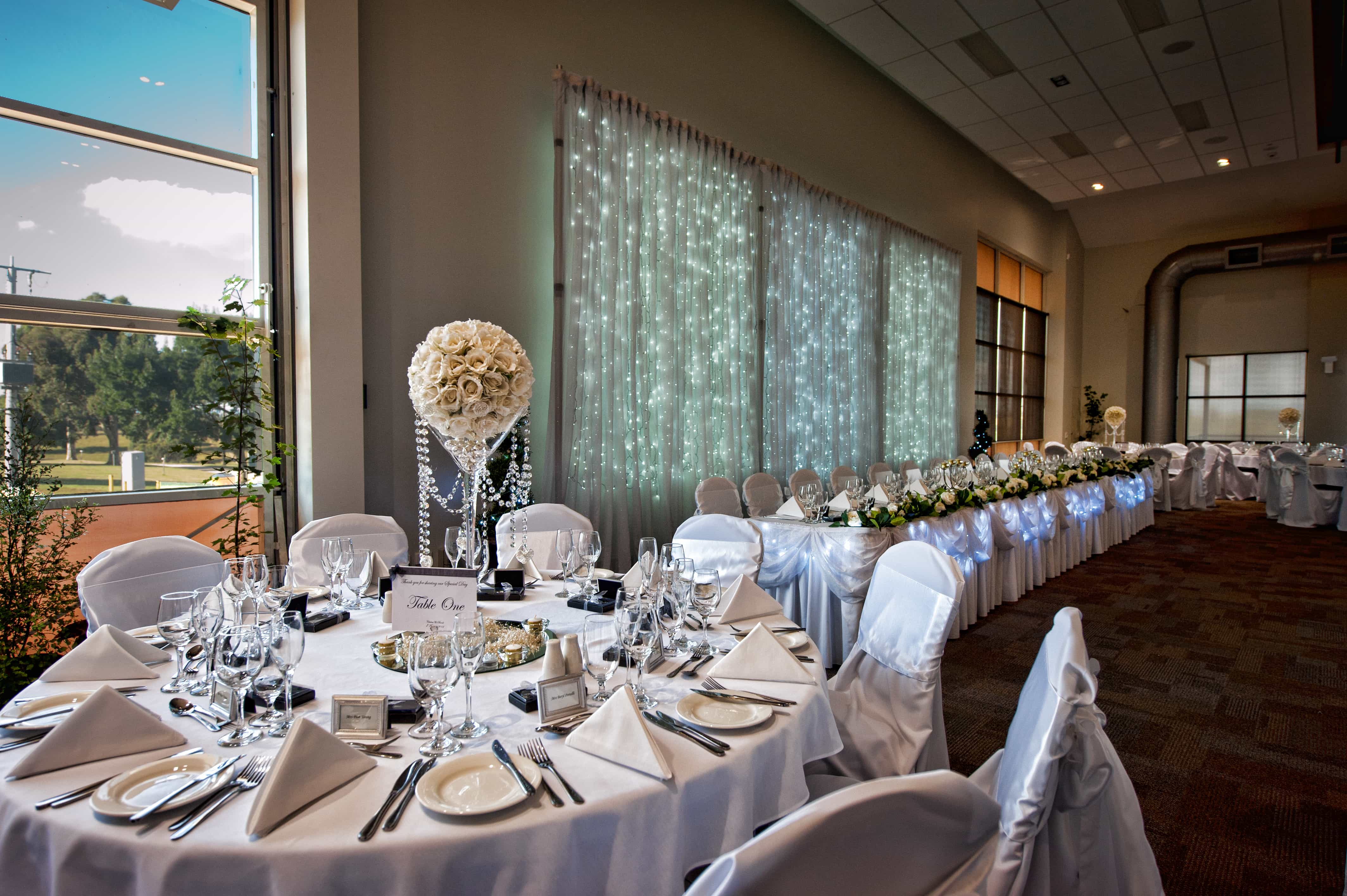 Lardner Park Wedding Venue Decorations