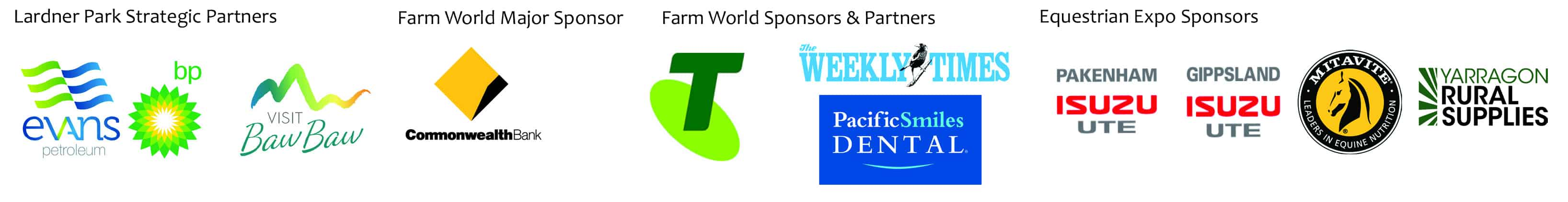 Farm World Sponsors and Partners