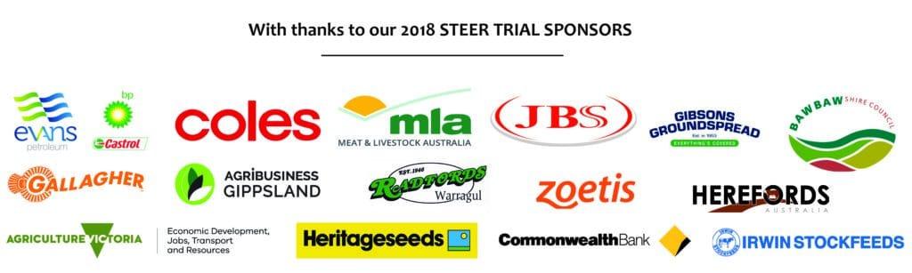 2018 Steer Trial Sponsor logos