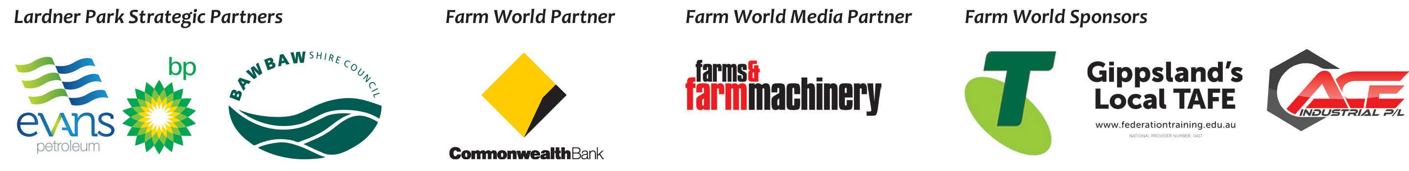 Lardner Park Strategic Partners and Farm World Sponsors