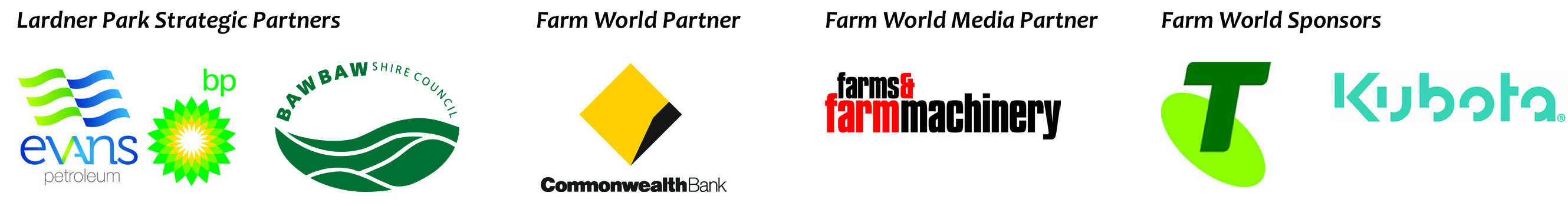 Farm World 2020 sponsor logos